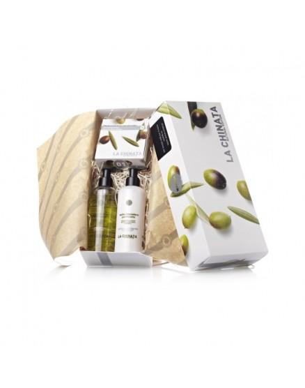 Caja de regalo de cosmética natural para mujer.