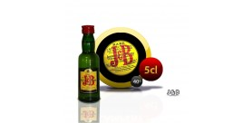 Mini botella de whisky escocés tradicional JB.5 cl 40 °