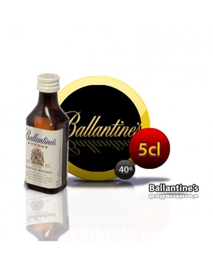 Miniature Bottle of Scotch Whiskey Ballantines 5 cl 40 °