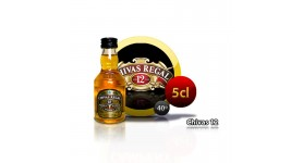 Botella miniatura de Whisky Chivas Regal 12 años 5CL 40 °