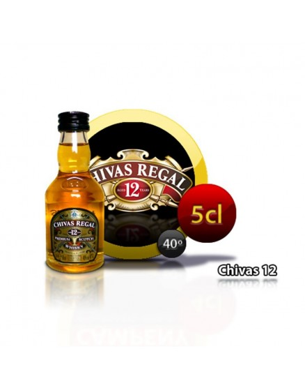 Miniature bottle of Whiskey Chivas Regal 12 years 5CL 40 °