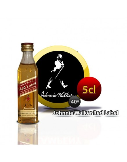 Johnnie Walker Miniatur-Whiskyflasche RED E / R 5CL 40 °