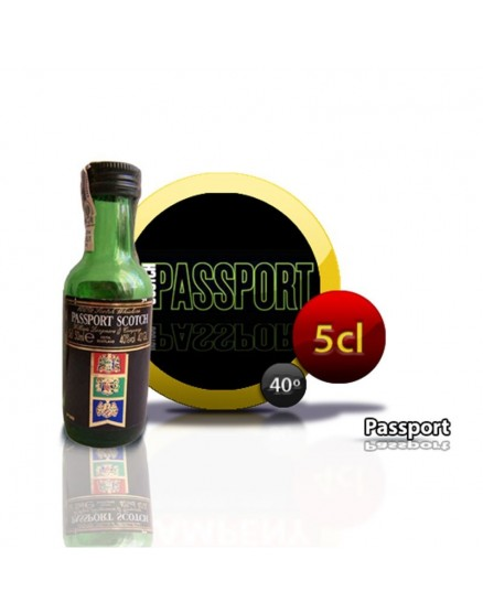 Mini-Flasche Scotch Whisky Passport 5CL 40 °