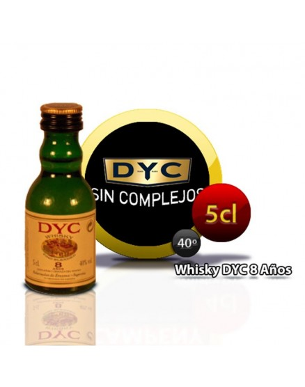 Miniature bottle of Whiskey Dyc 8 Years 5CL 40 °