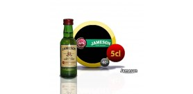 Botella miniatura de whisky Jameson 5CL 40 °