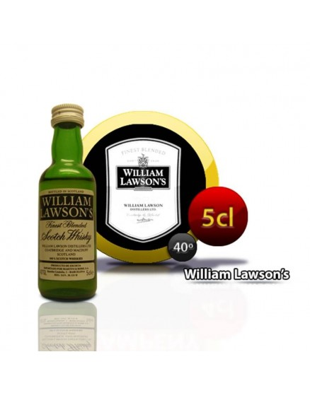 Willliam Lawsons Miniatur-Whiskyflasche 5CL 40 °