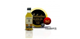 Bottle miniature whiskey Ballantines golden seal 12 years. 5CL 43 °