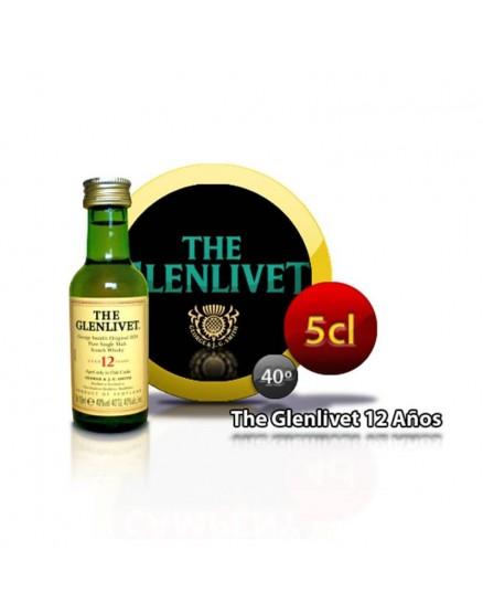 Botella de whisky en miniatura The Glenlivet Tiene 12 años 5CL 40 °