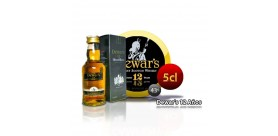 Whiskey DEWAR'S 12 years in 5 cl format. 43°