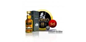 Whiskey DEWAR'S 12 years in 5 cl format. 43°