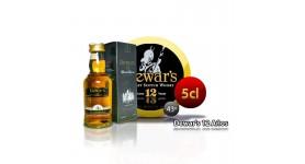 Whisky DEWAR'S 12 Jahre im 5-cl-Format.