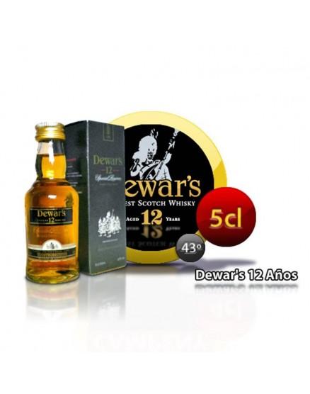 Whisky DEWAR´S 12 años en formato de 5 cl.