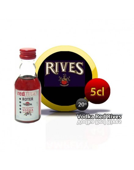 Botellas Miniatura Vodka Red Rives