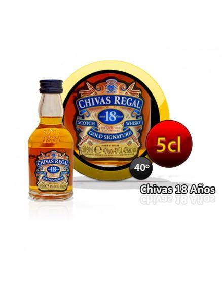 Whysky Chivas Regal Miniaturflasche 18 Jahre, 5CL 40 °