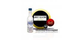 Miniature Vodka Gray Goose in bottle of 5cl.