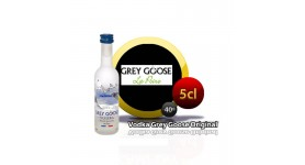 Miniatura Vodka Grey Goose en botella de 5cl.