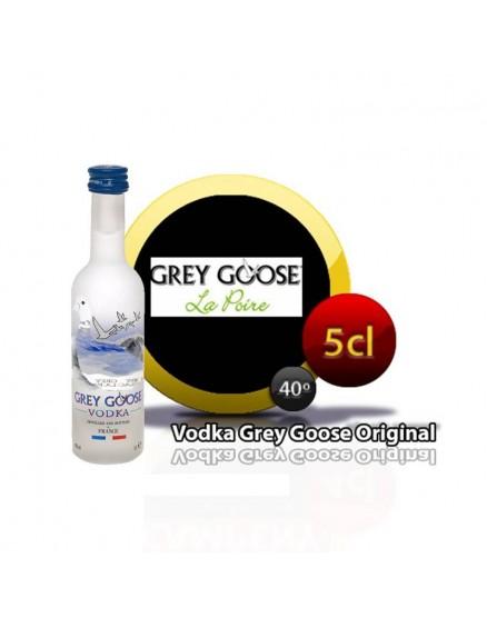 Miniatur Wodka Grey Goose in Flasche 5cl.