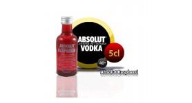 Miniatura de Absolut Raspberri en botella de 5cl.