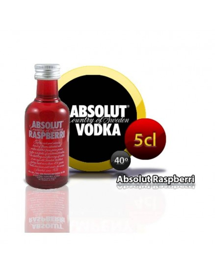 Miniature of Absolut Raspberri in 5cl bottle.