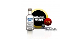 Miniatura Absolut vodka en botella de 5cl.