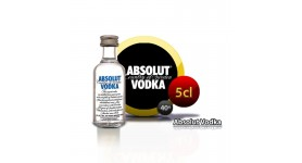Miniature Absolut vodka in 5cl bottle.
