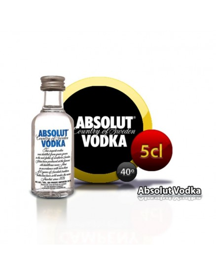 Vodka miniature Absolut en bouteille de 5 cl.