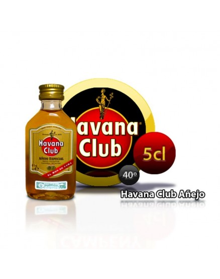 Havana Club rum aged small bottle 5 years