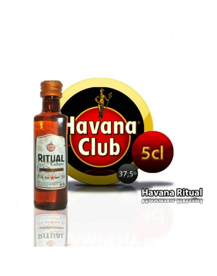 Rituel Cubain Havana Club en miniature 5 cl.