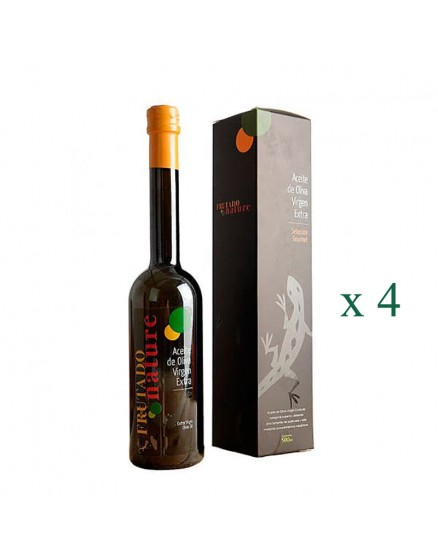 Huile d'Olive Extra Vierge Bio Fruitée Nature 500ml X 4