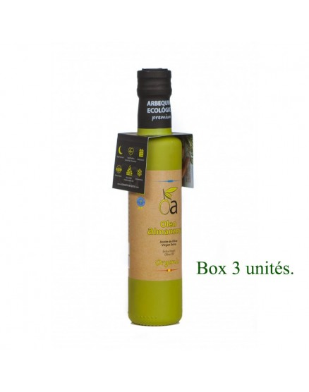 Aceite de oliva virgen extra ecológico Arbequina oleoalmanzora 250 ml X3