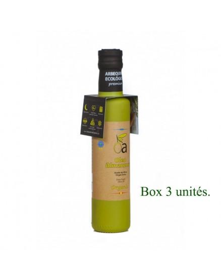 Huile d'Olive Extra Vierge Bio Arbequina oleoalmanzora 250 ml X3