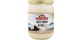 Huile de noix de coco vierge Bio Natursoy, 400 g