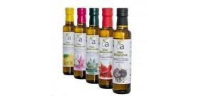 5MIX Aromatisierte Öle (Schwarzer Trüffel, Zitrone, Chili, Knoblauch und Rosmarin)
