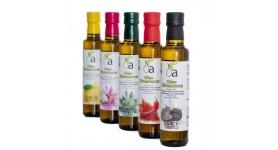 5MIX Huiles Aromatisées (Truffe Noire, Citron, Piment, Ail et Romarin)
