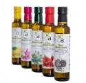 5MIX Flavored Oils (Black Truffle, Lemon, Chilli, Garlic and Rosemary)