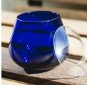 12 Vaso cata de aceite de oliva, vidrio azul+ 12 tapas de vasos