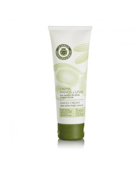 Hand and nail cream tube with extra vierge olive oil