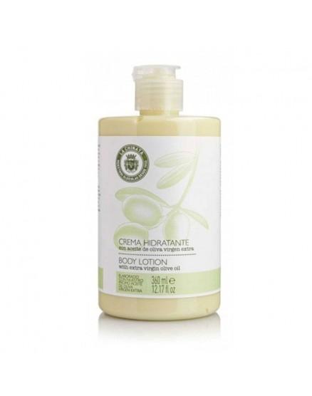 Crema hidratante con aceite de oliva virgen extra.