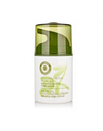 Crema hidro nutritiva facial 24H con Aceite de Oliva Virgen Extra