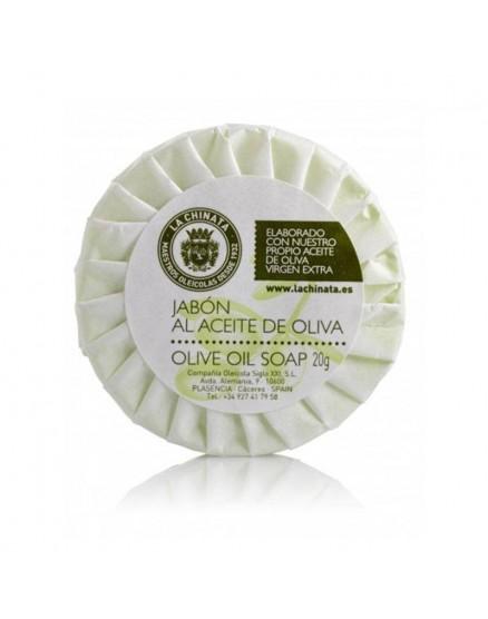 Pastilla de jabón con aceite de oliva paquete de 20 gr de 10 piezas.