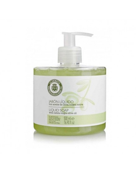 Liquid soap with virgin olive oil