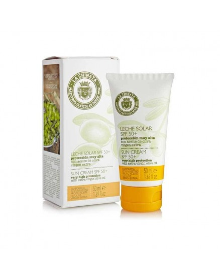 Protection du visage au lait solaire à l'huile d'olive extra vierge