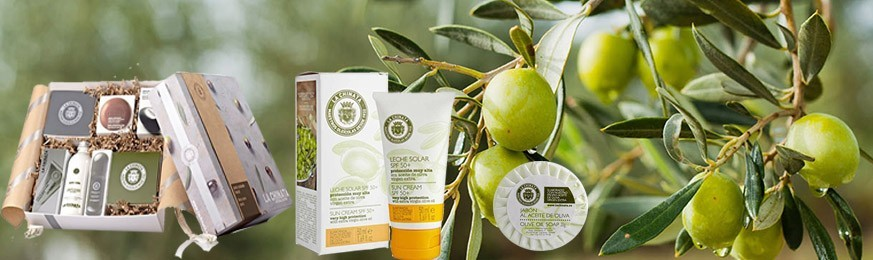 Natural cosmetics made from extra virgin olive oil